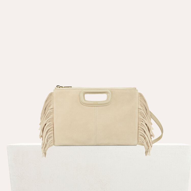 M Duo clutch in suede : Bags color Beige