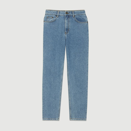 High-waisted jeans : Pants & Jeans color Blue