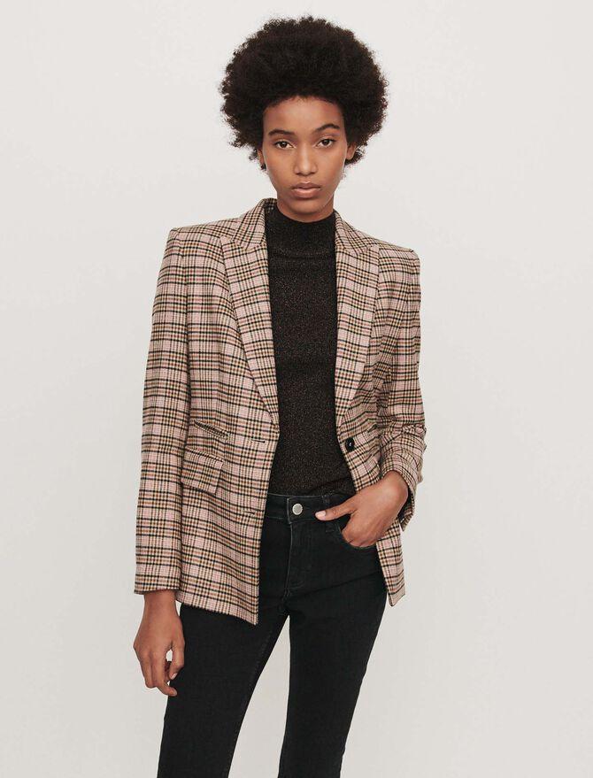 Fitted plaid jacket - Coats & Jackets - MAJE