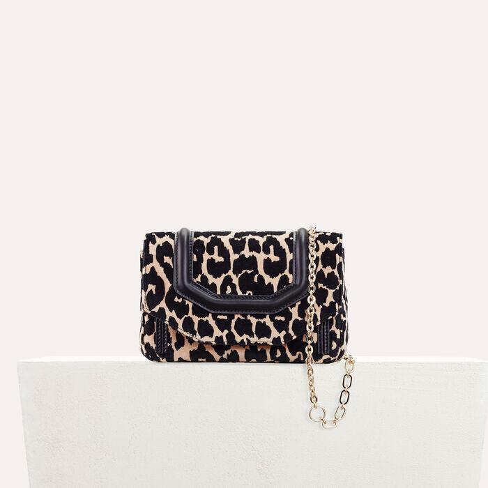 Leopard print evening bag : null color