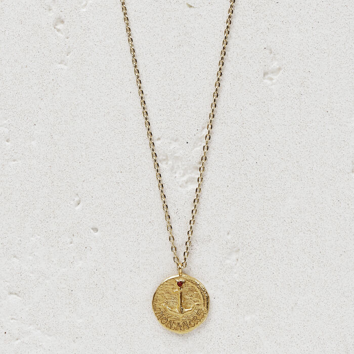 "Necklace ""Mon ancre"" in gold plated : Jewelry color GOLD"