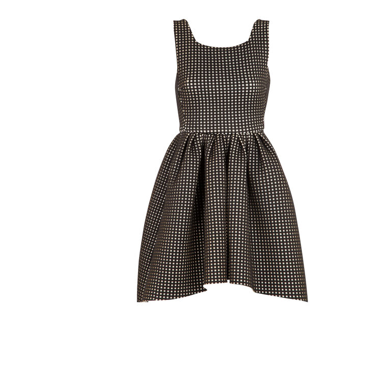 Checked neoprene dress : Copy of Sale color