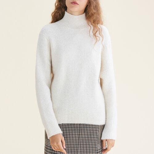 High neck jumper : Sweaters color Ecru