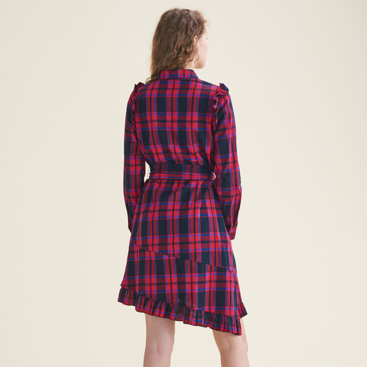 Checked dress with frills : null color