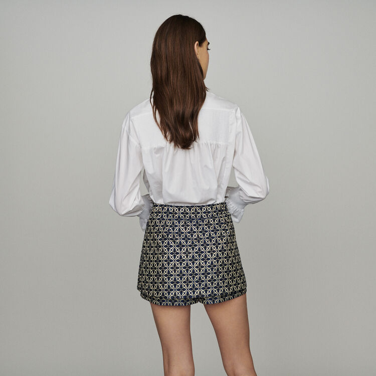 Trompe-l'oeil jacquard shorts : New in: Spring Collection color Jacquard