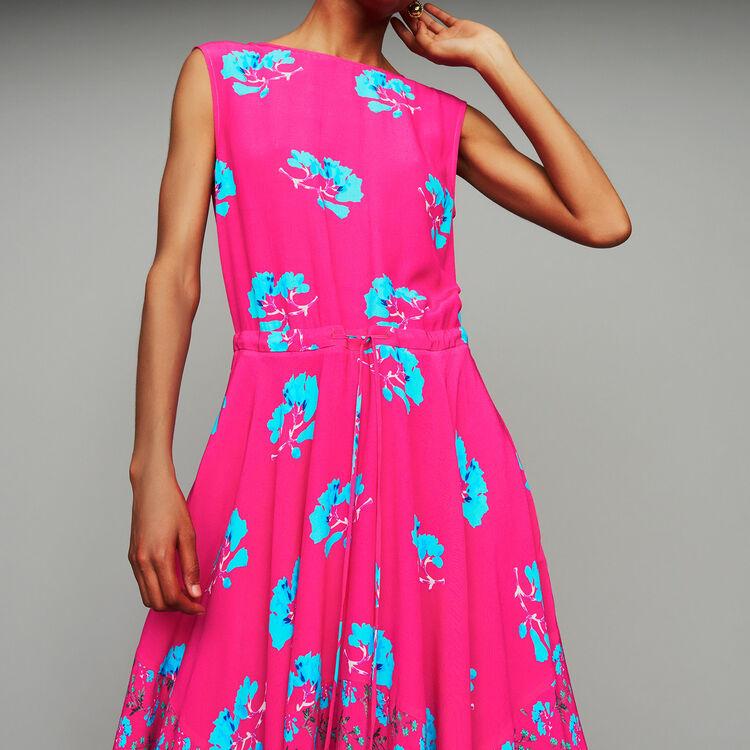 76ebfe0ece Sleeveless printed long dress
