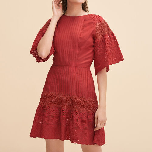 Embroidered dress with guipure - Dresses - MAJE