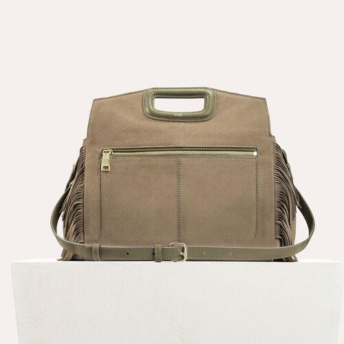 Suede shoulder bag : All bags color Khaki