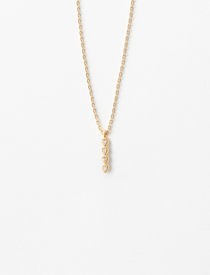 Rhinestone I necklace -  - MAJE
