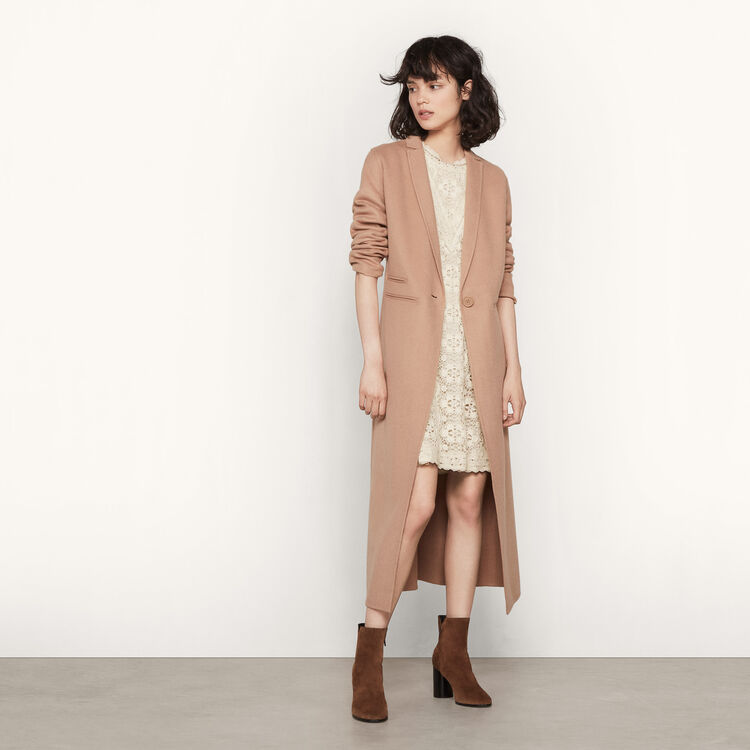 Long double-sided wool coat : Private Sale Event color Camel