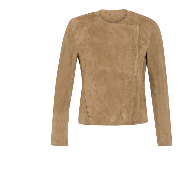 Goatskin leather jacket : The Zoe Report color