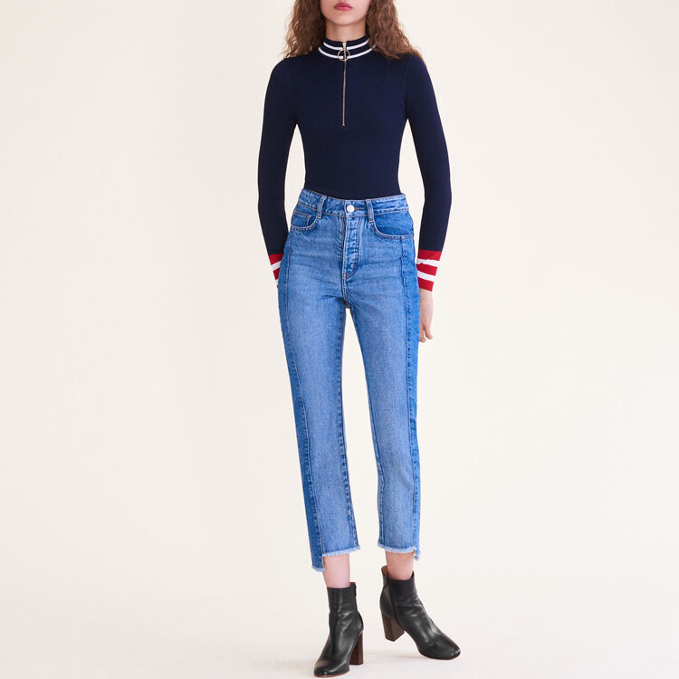 Fine knit zipped jumper : null color