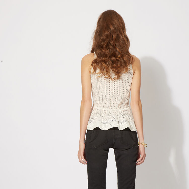Lace top with peplum : Copy of Sale color