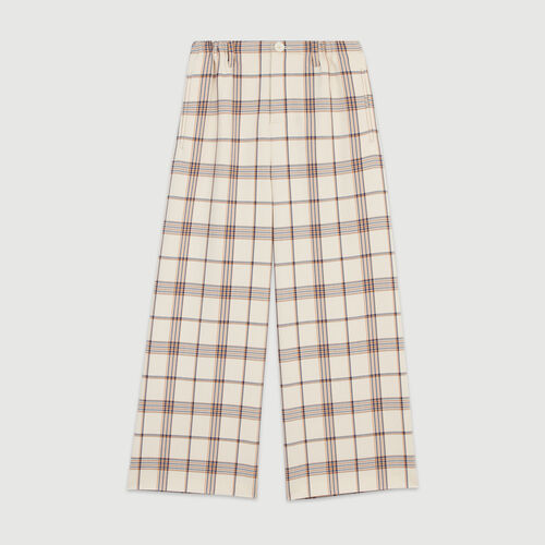 Wide leg plaid pants  : Pants & Jeans color Carreaux