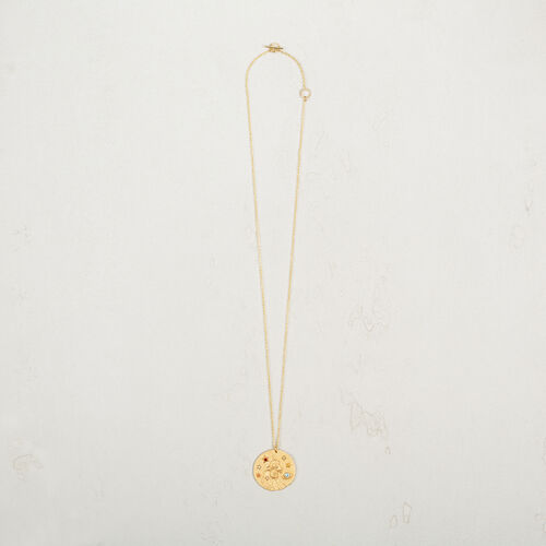 Aquarius zodiac sign necklace : Jewelry color GOLD