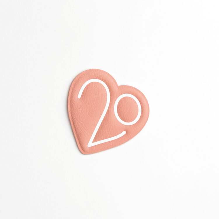 Patch Badge X 20 years : Patches & Pins color Pink