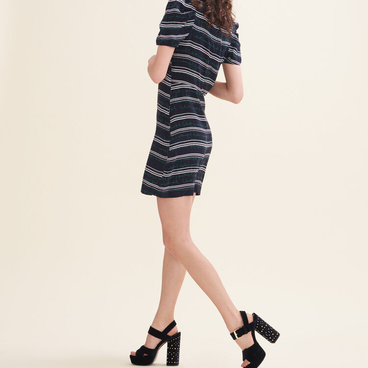 Short dress with all-over lettering : Dresses color Print