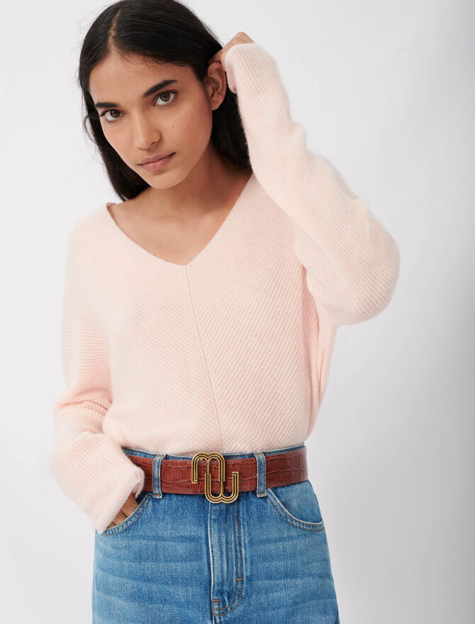 Ribbed Cashmere Jumper - Sweaters - MAJE