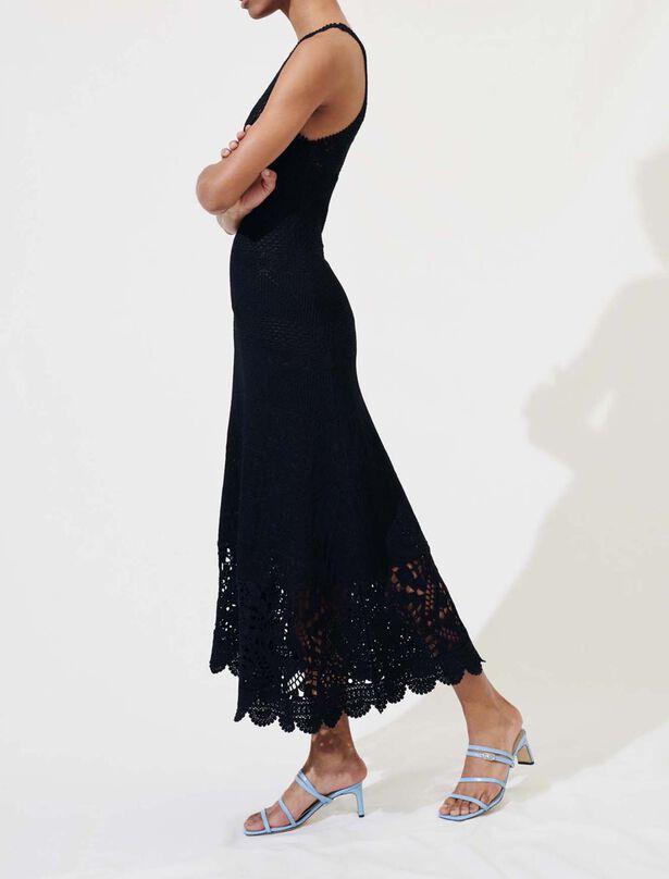 Maje Long crochet dress