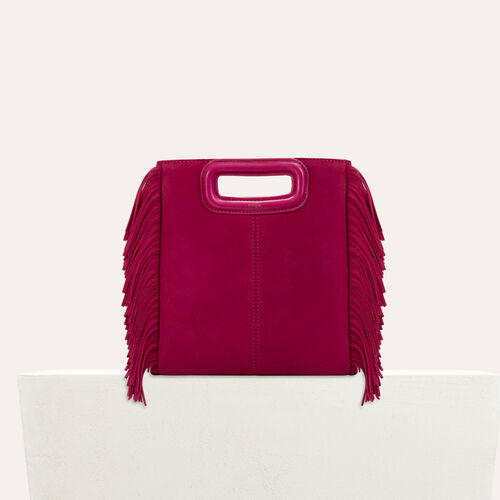 Suede M bag : Handbags & Purses color Raspberry
