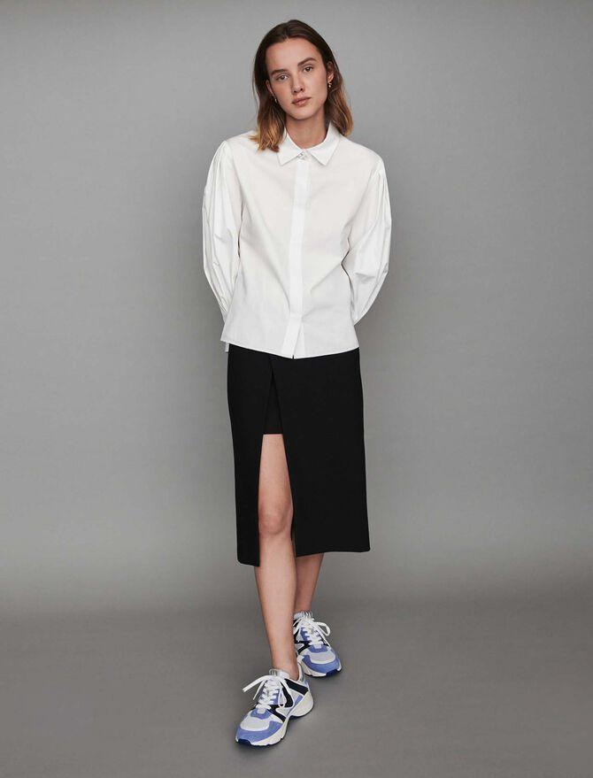 Jeweled button poplin shirt - Tops & T-Shirts - MAJE