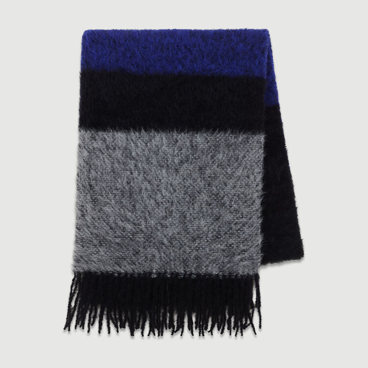 Echarpe en laine color block : Scarves & Hats color Purple