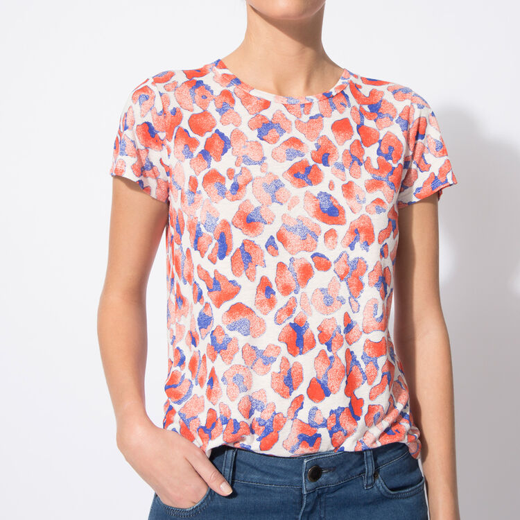Linen printed T-shirt : null color