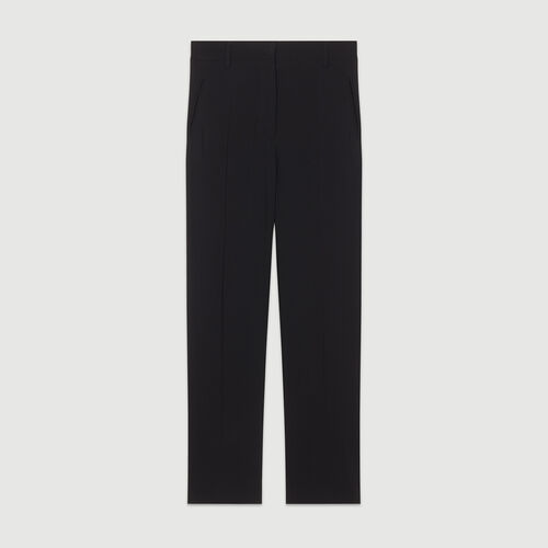 Straight pants in viscose : Pants & Jeans color Black 210