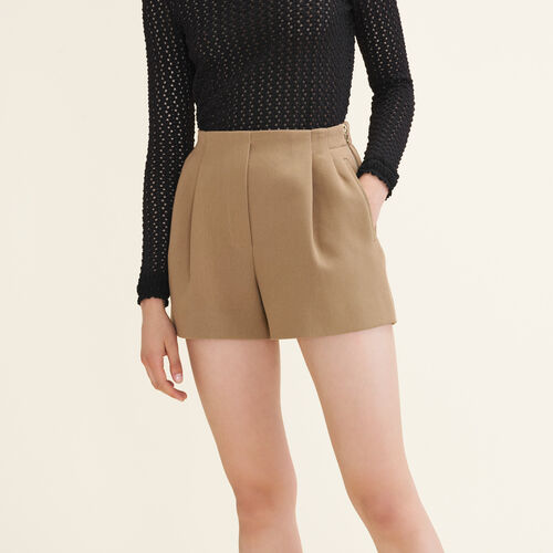 Cotton blend shorts - Skirts & Shorts - MAJE