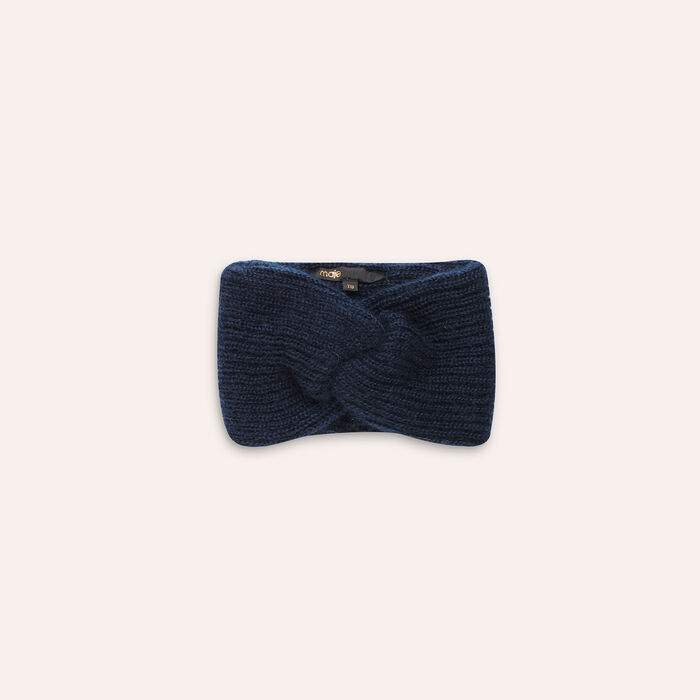 Knitted headband : Shoes & Accessories color Navy