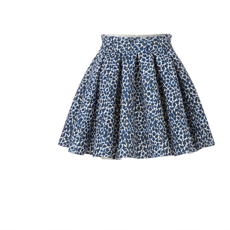 Leopard print puffball skirt : null color