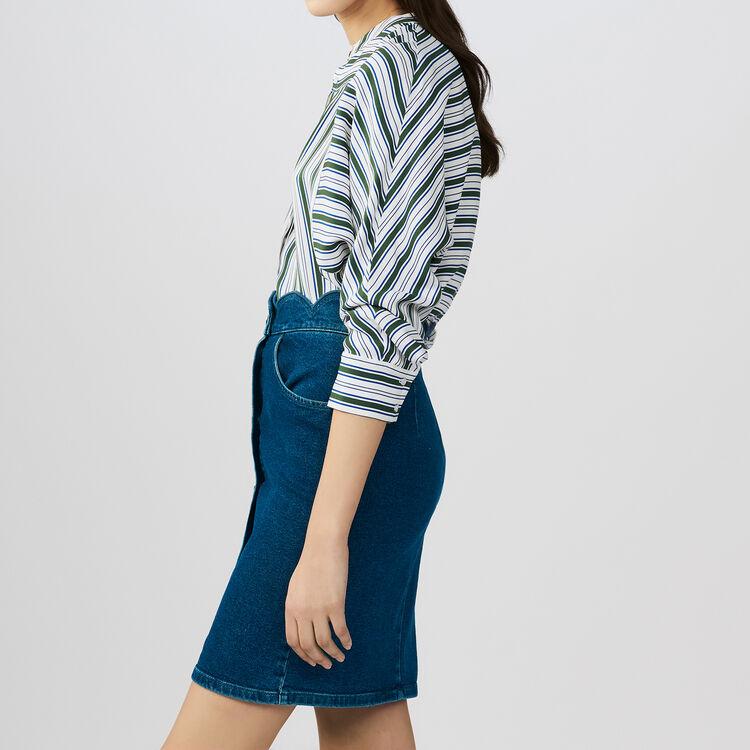 Denim skirt with fancy cutting : Skirts & Shorts color Denim