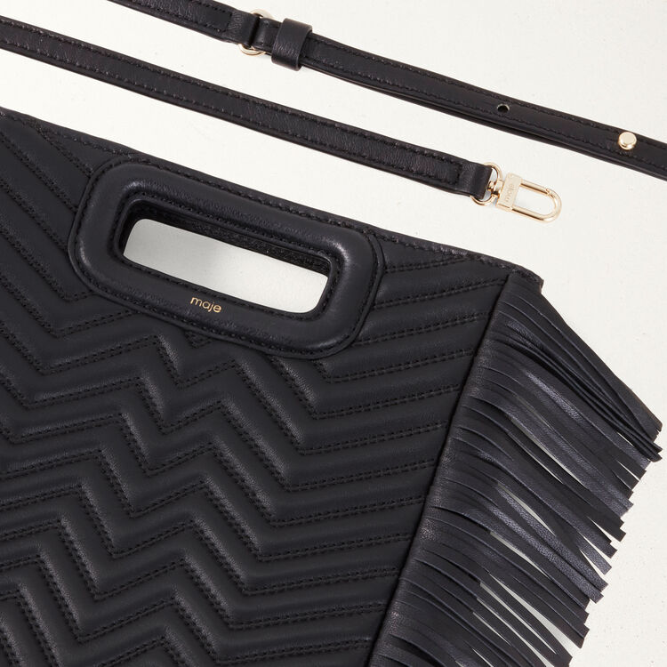 Quilted leather M bag : M Bags color Black