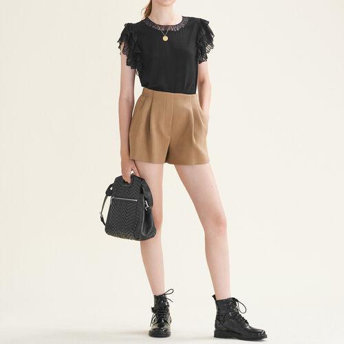 Flounced lace top - Tops & T-Shirts - MAJE