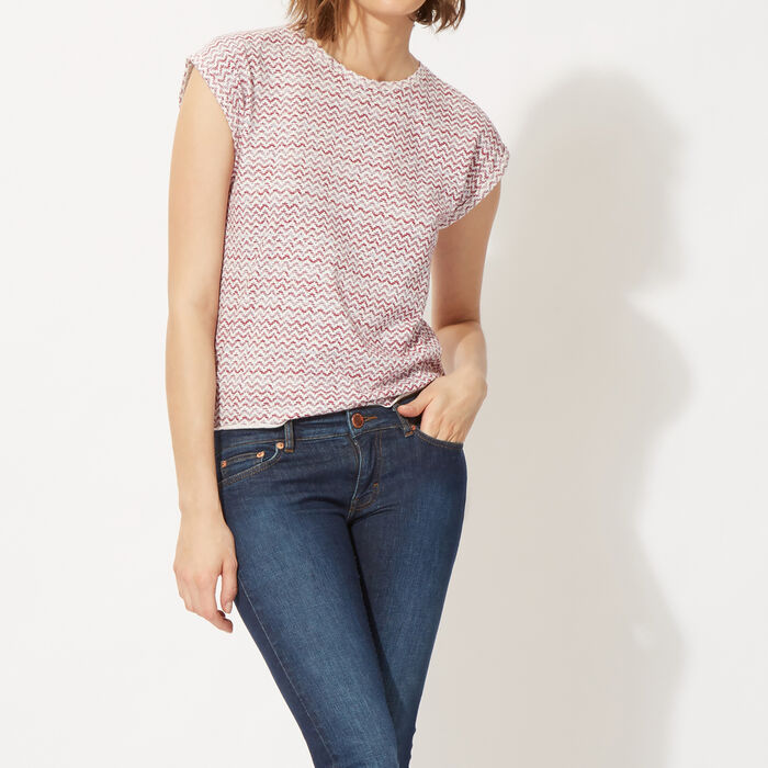 Woven printed cotton T-shirt  : On the road color