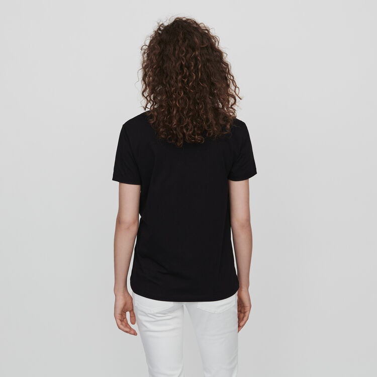 Embroidered tee shirt : Tops & T-Shirts color Black