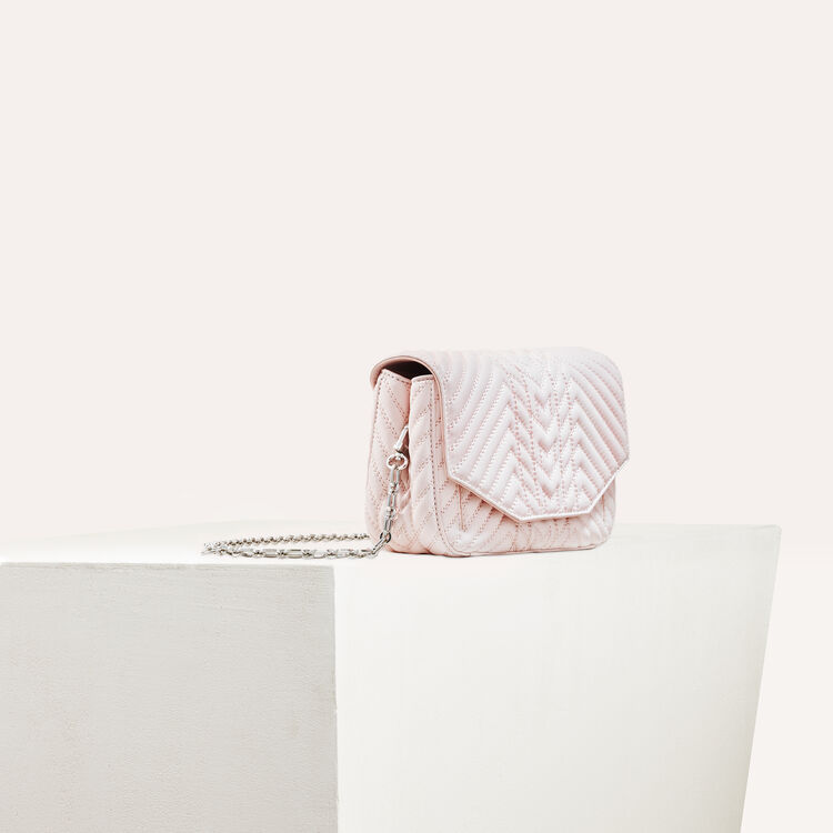 Quilted leather evening bag    : All bags color Nude