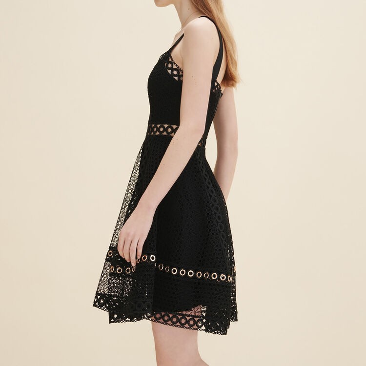 Embroidered strappy dress : Dresses color Black 210