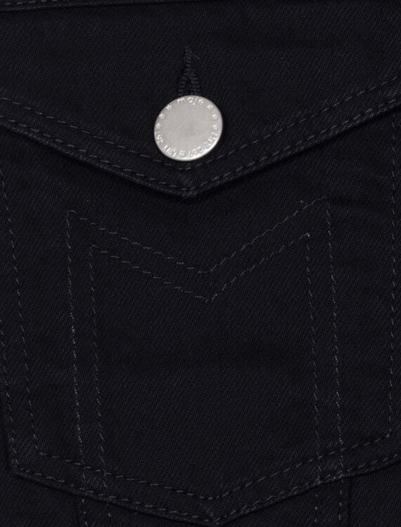 Denim vest : Coats & Jackets color Black 210
