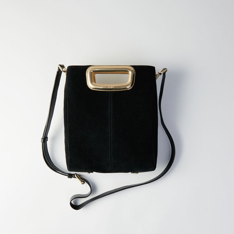 M Skin bag in suede : M Skin color Black