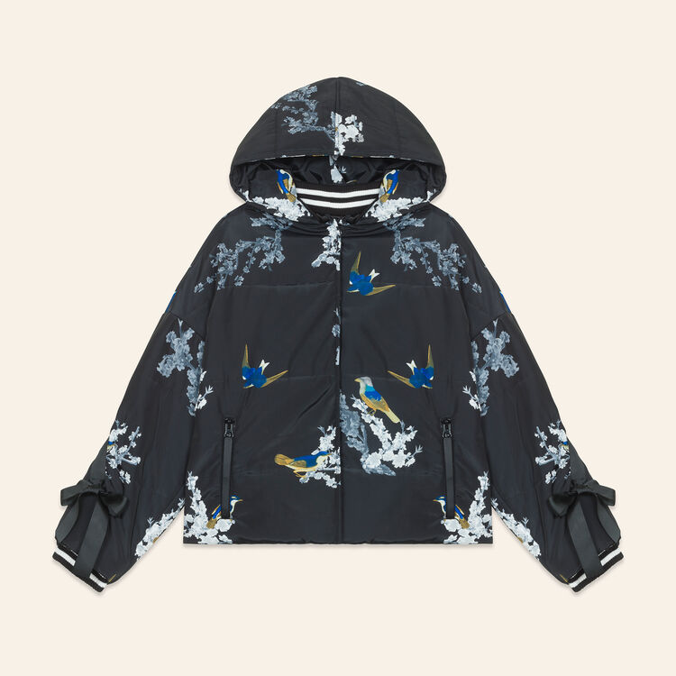 Cropped printed down jacket : Coats & Jackets color PRINTED