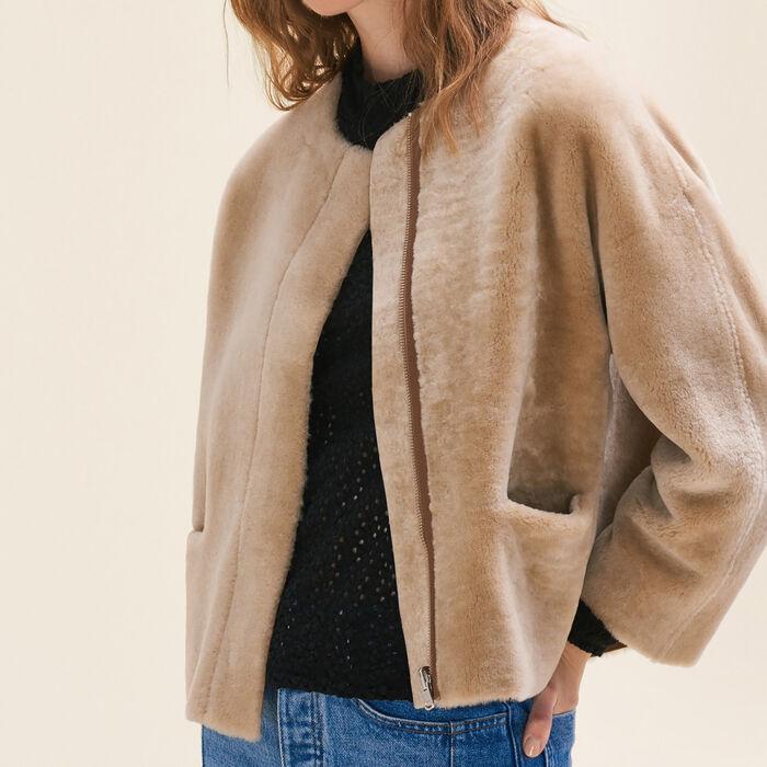 VESLAIN Reversible sheepskin jacket - Coats & Jackets - Maje.com