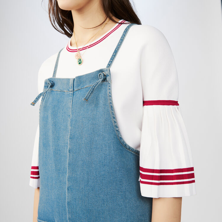 Denim overalls with thin tie-straps : Jumpsuits color Denim