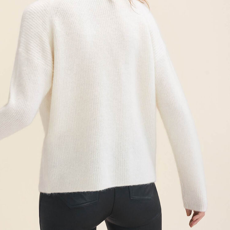 Loose mohair jumper : Sweaters color Ecru