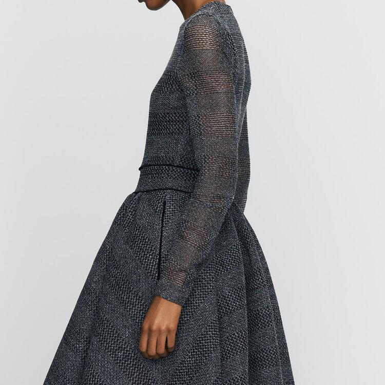 Skater dress in basketweave knit : Dresses color Grey