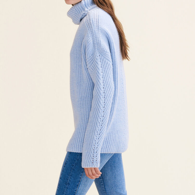 Oversized roll-neck jumper : Sweaters color Blue Sky