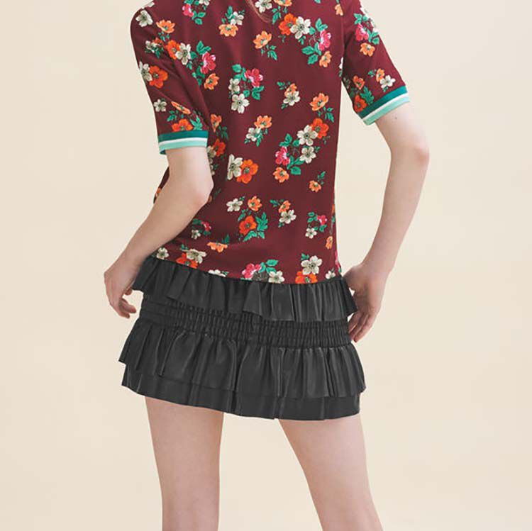Flowing top with a retro print : Tops & Shirts color Print