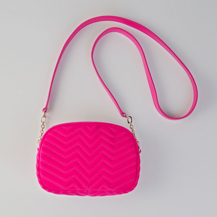Quilted velvet shoulder bag : Camera Bag color ROUGE