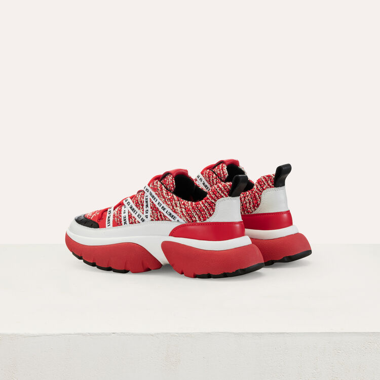 W20 urban tweed sneakers : Shoes color Red