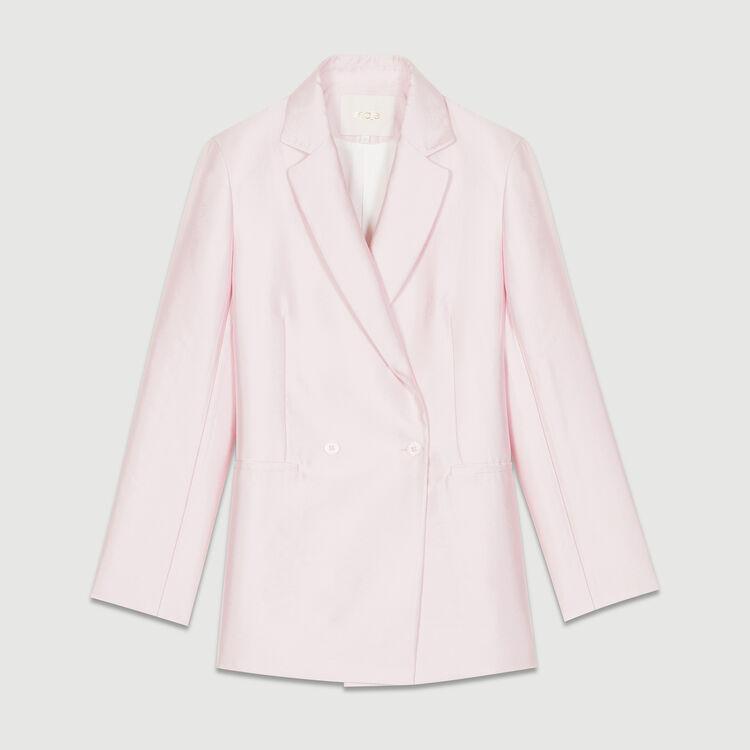 Satin blazer : Coats & Jackets color Pink